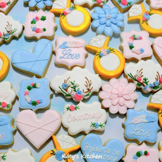 Bridal Shower Wedding Cookies in Cedar Rapids Iowa