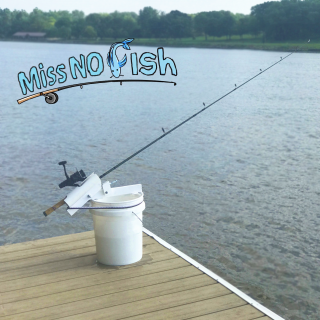 Miss No Fish- Portable Fishing Rod Holder for Boats or Shore