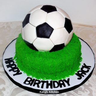 Soccer Cake Sport Theme Cakes & Cupcakes by Katy's Kitchen in Cedar Rapids Iowa