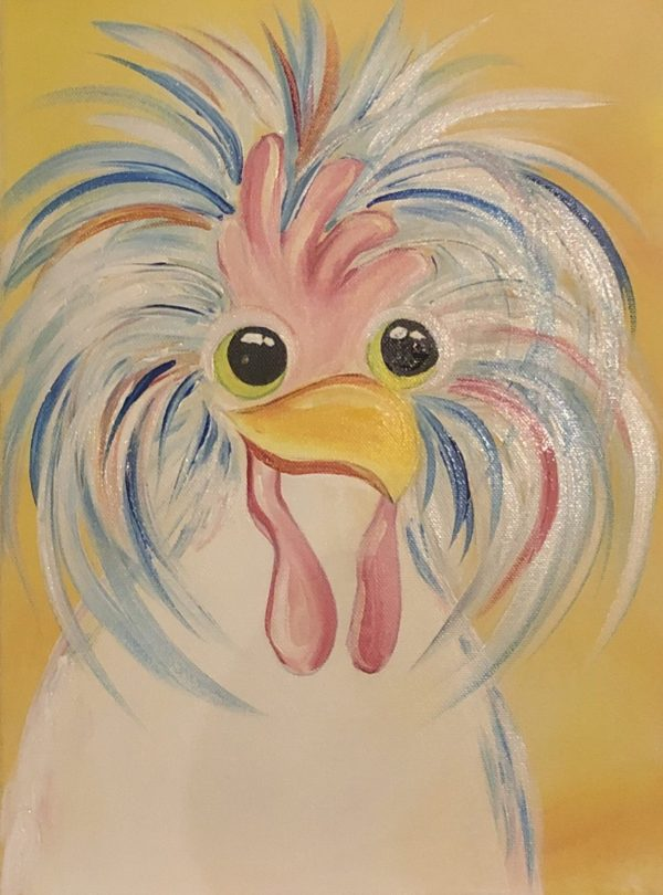 Silly Chicken Painting Class