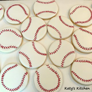 Baseball Cookies by Katy's Kitchen in Cedar Rapids Iowa