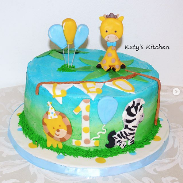 Jungle Animals Cake in Cedar Rapids