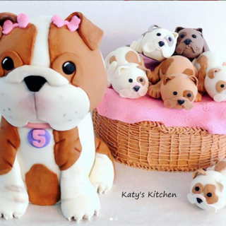 Puppy Dog Cake with a litter of puppies in Cedar Rapids