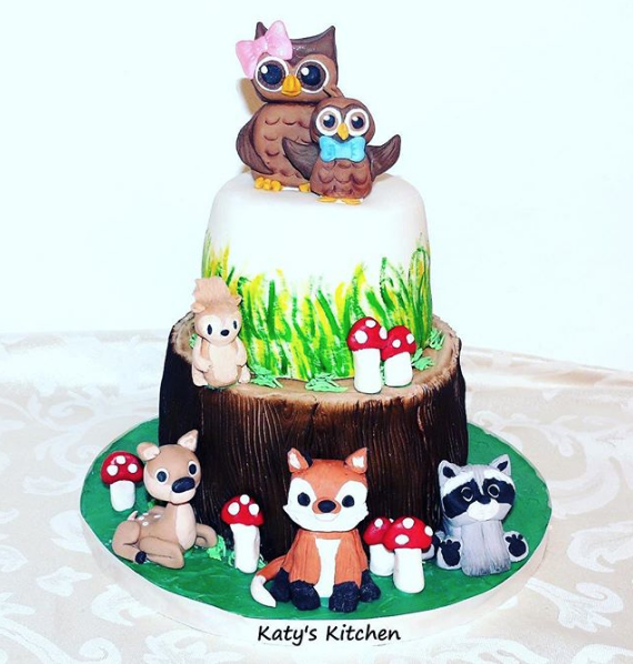 Woodland Animals Cake in Cedar Rapids
