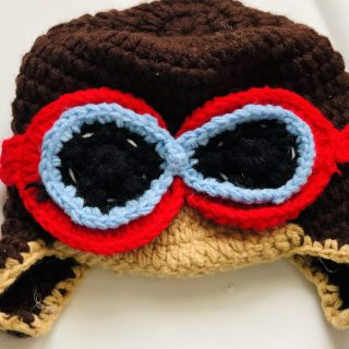 Crochet Baby Aviator Hat Photo Prop