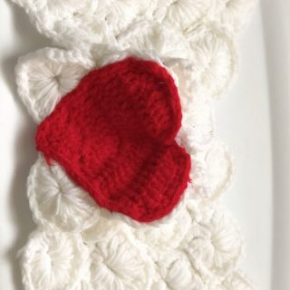 Crochet Baby Angel Wings with Heart Photo Prop