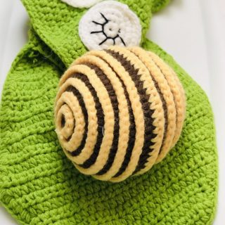 Crochet Newborn Snail Photo Prop