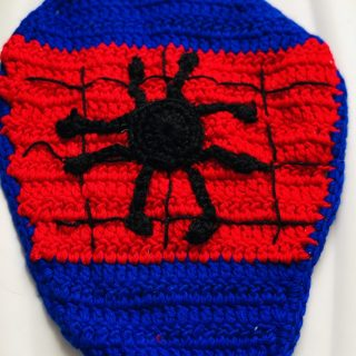 Spider Superhero Crochet Photo Prop Set