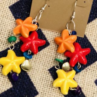 Tropical Starfish Dangle Earrings
