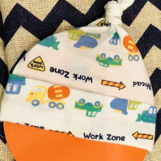 Newborn construction zone hat