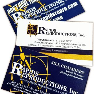 Rapids Reproductions Business Cards in Cedar Rapids Iowa