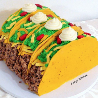 Taco Cake from Katy's Kitchen