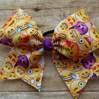 Emoji Cheer Bow