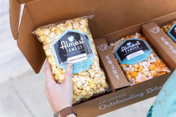 Almost Famous Gourmet Popcorn Gift Box Sets