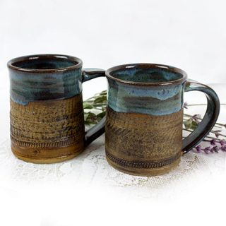 Blue Earth Pottery Mug - Bohemian