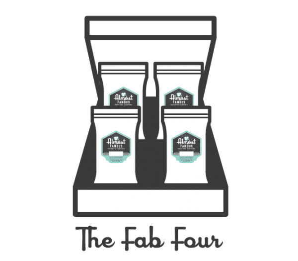 Gourmet Popcorn Gift Box Set - Almost Famous Popcorn - The Fab Four