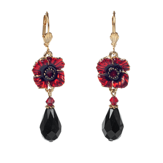 Poppy Charm Crystal Earrings