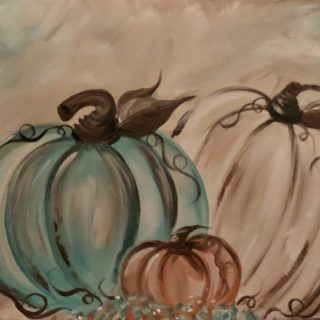 Thankful Pumpkins Adult canvas painting