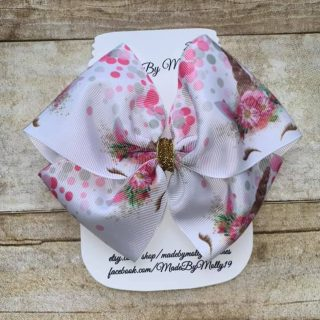 Pink Unicorn Boutique Barrette Hair Bow