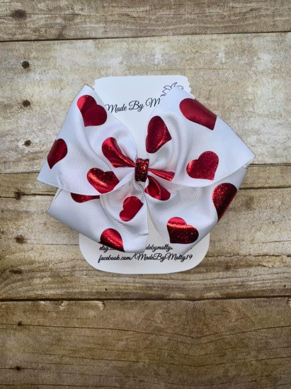 Valentine's Day Boutique Barrette Hair Bow