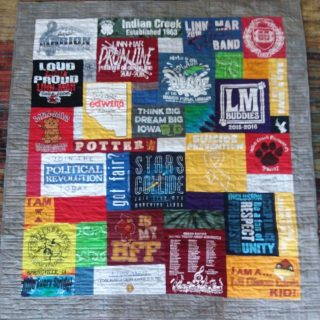 T-Shirt Quilts for Graduation Gift in Cedar Rapids or Marion, Iowa