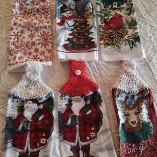christmas winter hand towels